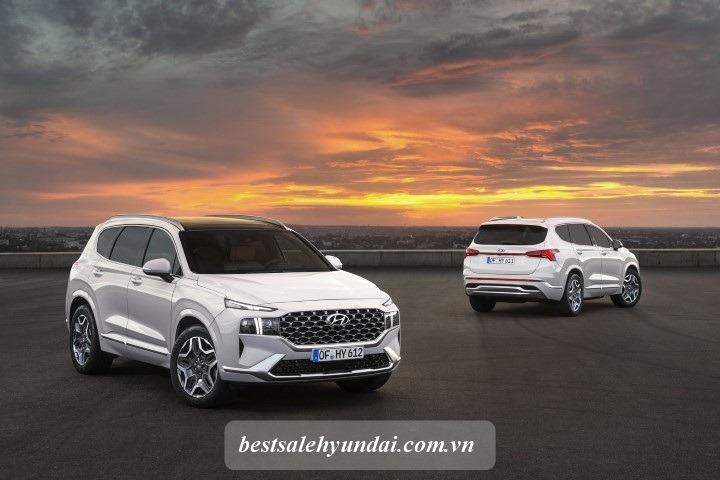 Hyundai Santafe 2021 Mau Trang