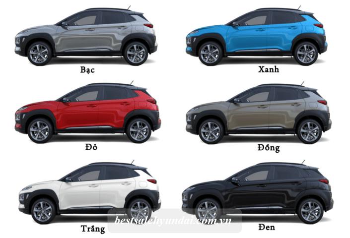 Hyundai Kona 2021 Mau Sac